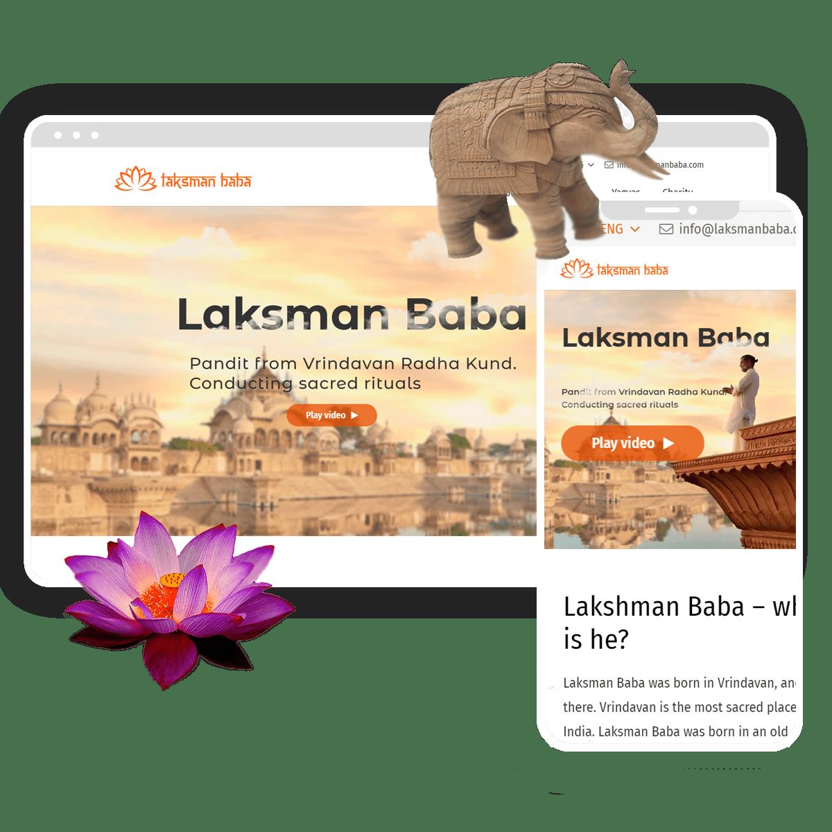 создание сайта для Лаксман Баба